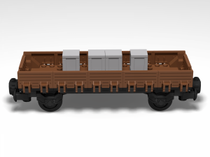 Low side wagon with 2 axles