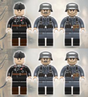 6x German WWII Artillery