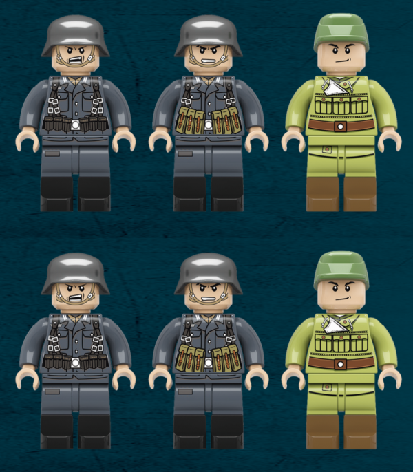 6x German WWII Infantry