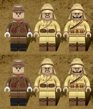 6x Japanese WWII Infantry