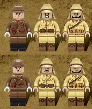 6x Japanische WWII Soldaten, Infanterie