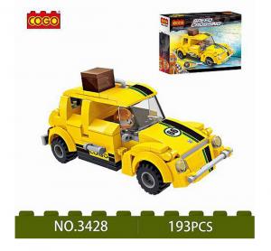 Rennwagen in gelb