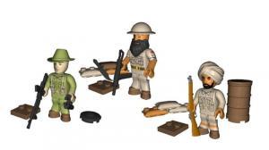 British Special Air Service Soldiers SAS (3 pieces)