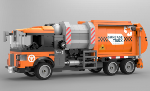 Müllfahrzeug orange