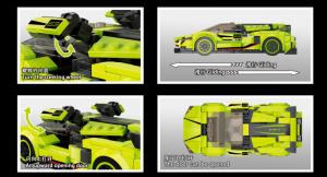 Supersportwagen lime