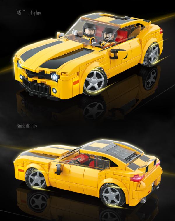 Muscle Car in yellow/black