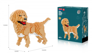 Golden Retriever (diamond blocks)