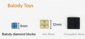 Golden Retriever (diamond blocks)