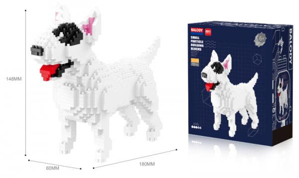 Bull Terrier (diamond blocks)