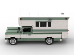 Klassischer Pick-Up Camper