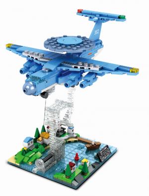 Tensegritiy sculpture - AWACS radar plane