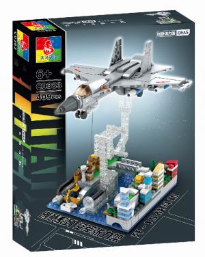 Tensegrity sculpture - Fighter aircraft