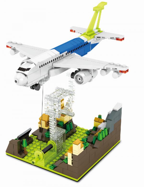 Tensegrity Skulptur - Flugzeug