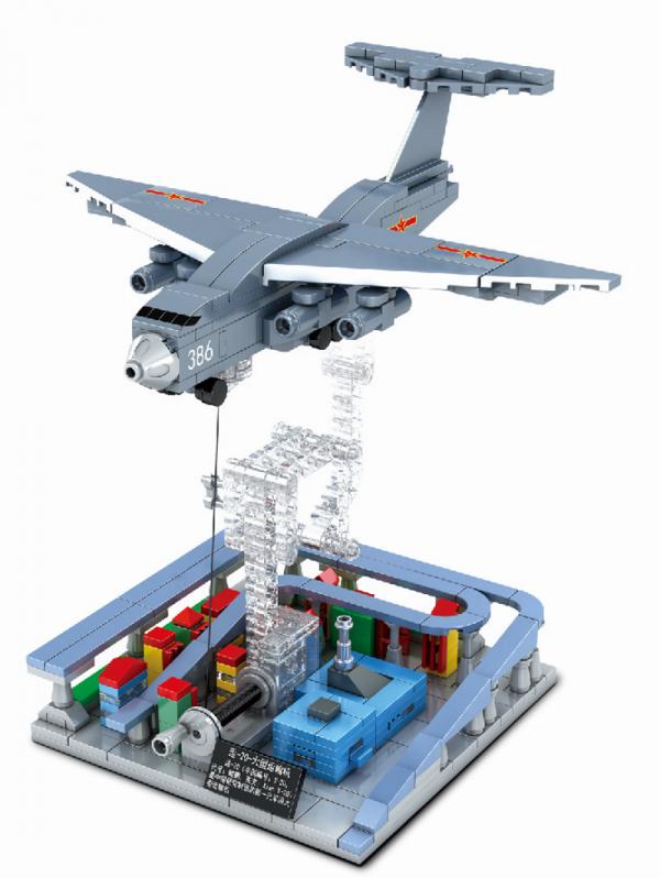 Tensegrity Skulptur - Schweres Transportflugzeug Y-20