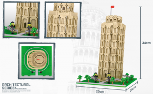 Schiefer Turm von Pisa (diamond blocks)