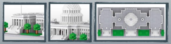 Kapitol der Vereinigten Staaten (diamond blocks)