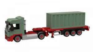 Logistics Truck with Seacontainer
