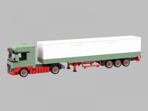 Logistik LKW mit Kofferanhänger