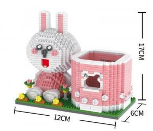 Pen Holder Rabbit  (Diamond Blocks)