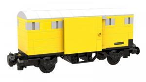 Gedeckter Güterwagen, gelb