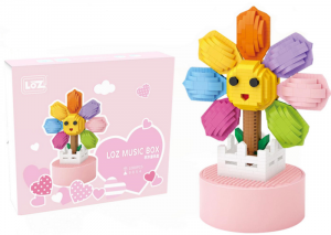 Music Box with Sunflower (Mini Blocks)