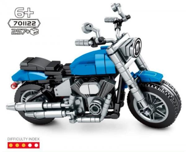 Motorrad in blau