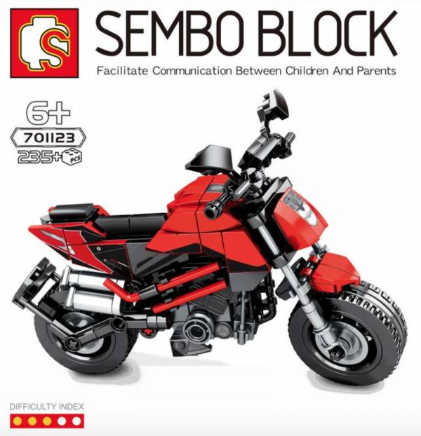 Motorrad in rot