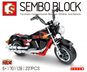 Motorrad in schwarz/rot