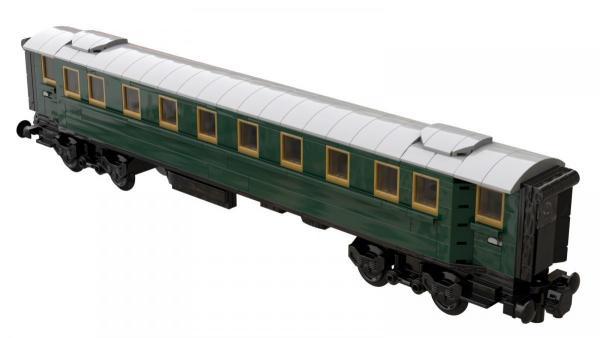 Passagierwagen dunkelgrün