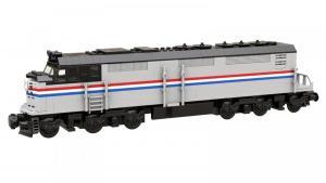 Diesellokomotive USA grau schwarz