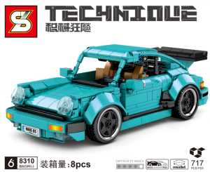Sports car  in turquoise