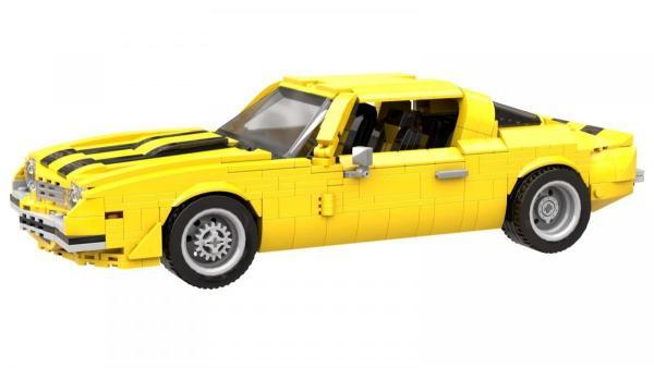 Klassischer gelber US Sportwagen