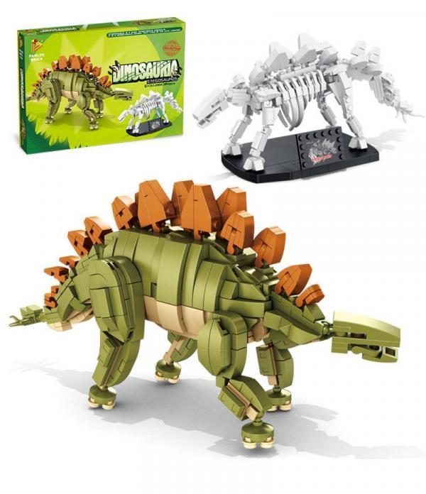 Stegosaurus and fossil