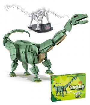Brachiosaurus und Fossil