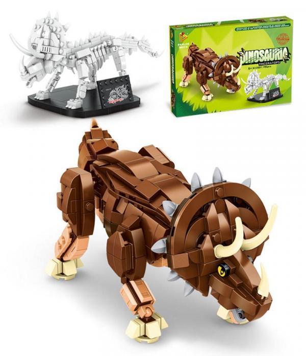 Triceratops und Fossil
