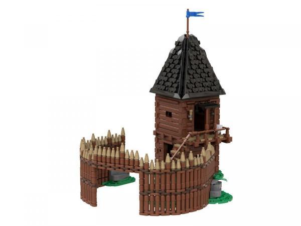 Wachturm mit Palisade