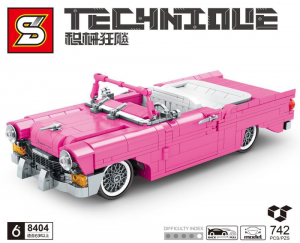 Vintage car in pink