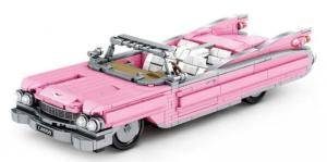 Vintage car in light pink