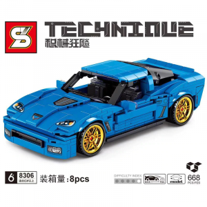 Racing car in blue