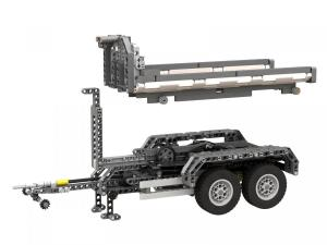 Technic hook lift trailer with two trailers
