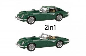 Klassischer 2in1 Sportwagen dunkel grün