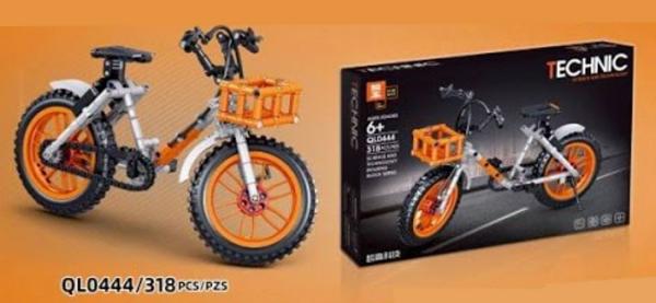 Fahrrad in grau/orange