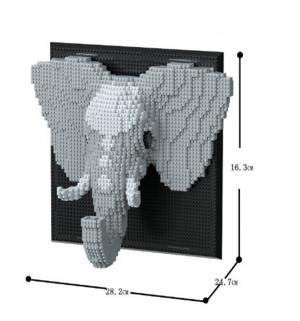 Bild mit Elefant (diamond blocks)