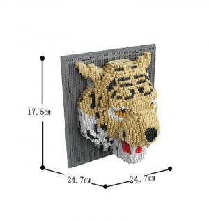 Bild mit Tiger (diamond blocks)