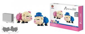 Küssende Schweine (diamond blocks)