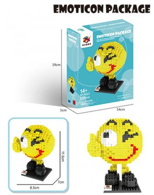 Fröhliches Emoji (diamond blocks)