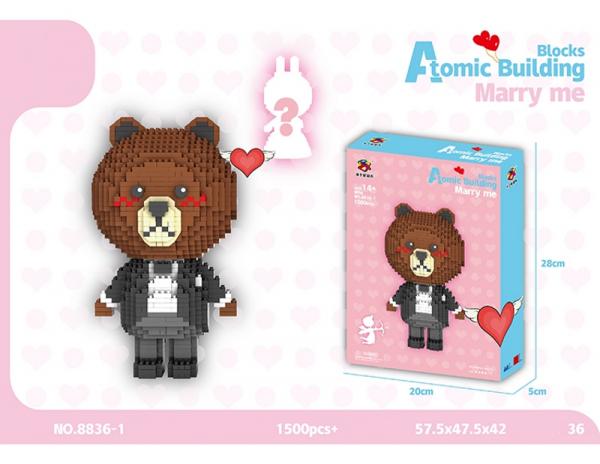 Bear in suit (diamond blocks)
