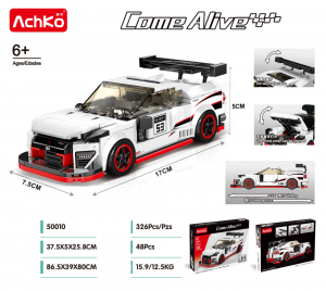 Racing Car in white/red