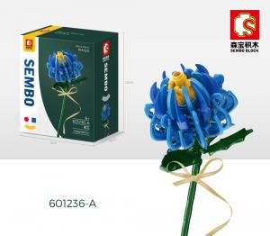 Chrysantheme in blau