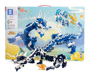 Oriental Dragon in dark blue